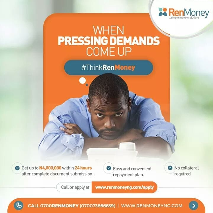 instant online loan in Nigeria renmoney