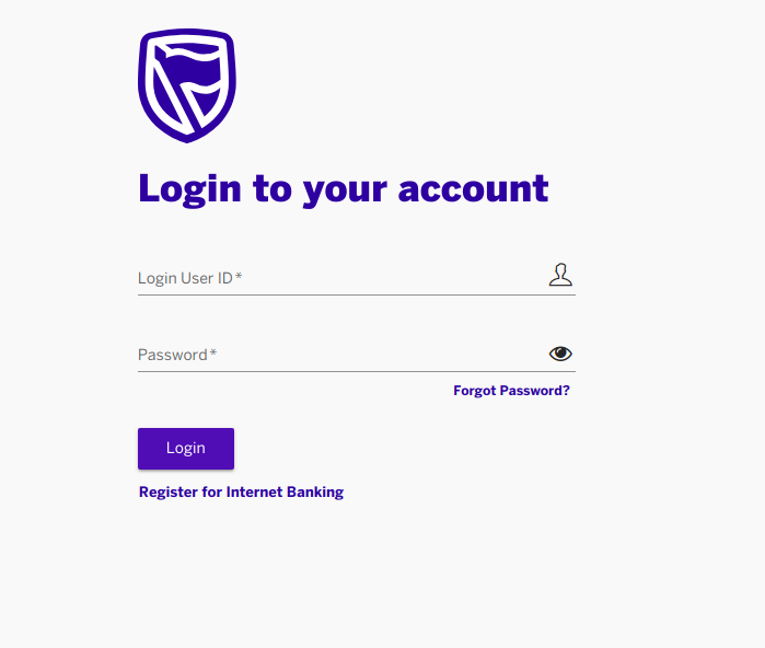 StanbicIBTC Internet Banking  — Login User ID & Password